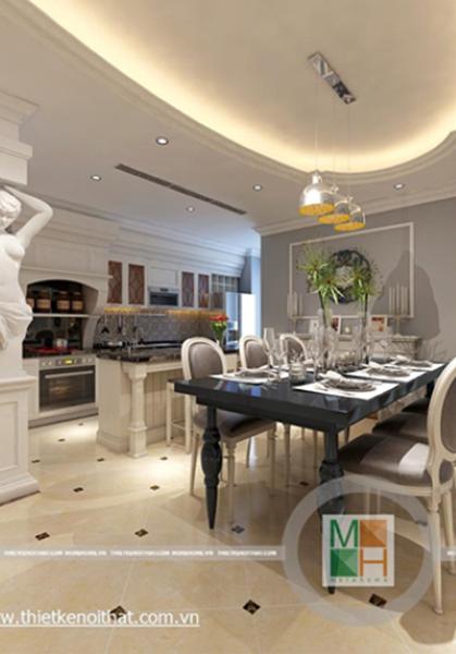 Thiết kế nội thất chung cư tân cổ điển tại Mandarin Garden Hòa Phát - Nhà Anh Hà