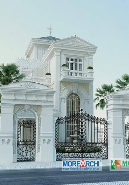 Thiết kế kiến trúc biệt thự tân cổ điển tại An Giang đẹp đẳng cấp