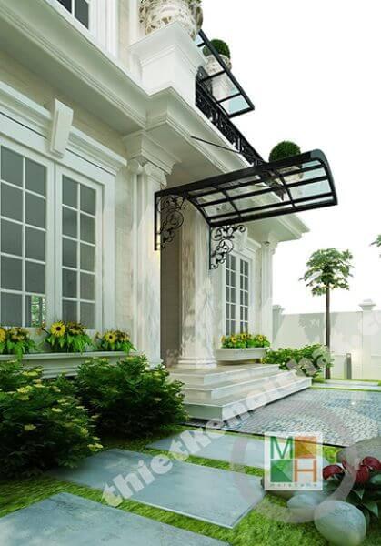 Thiết kế kiến trúc và nội thất biệt thự Việt Hưng - Phong cách tân cổ điển