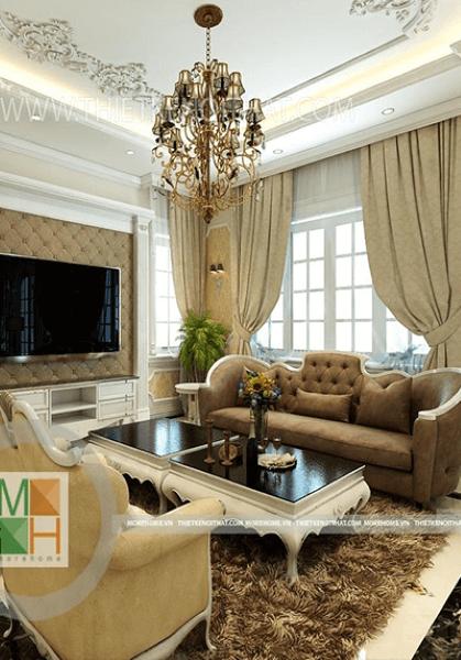 Thiết kế nội thất biệt thự tân cổ điển cao cấp - Anh Việt