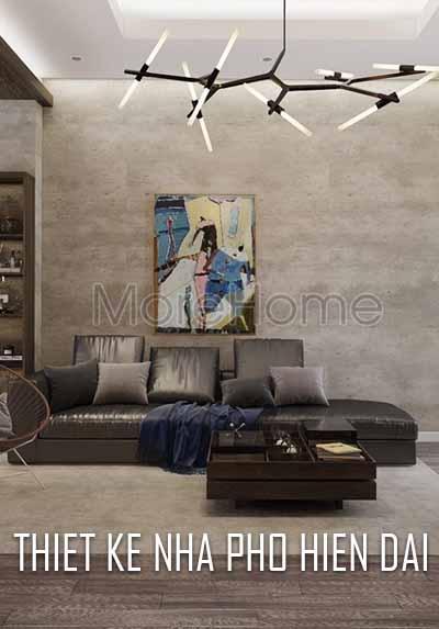 Thiết kế nội thất nhà phố phong cách hiện đại đẳng cấp