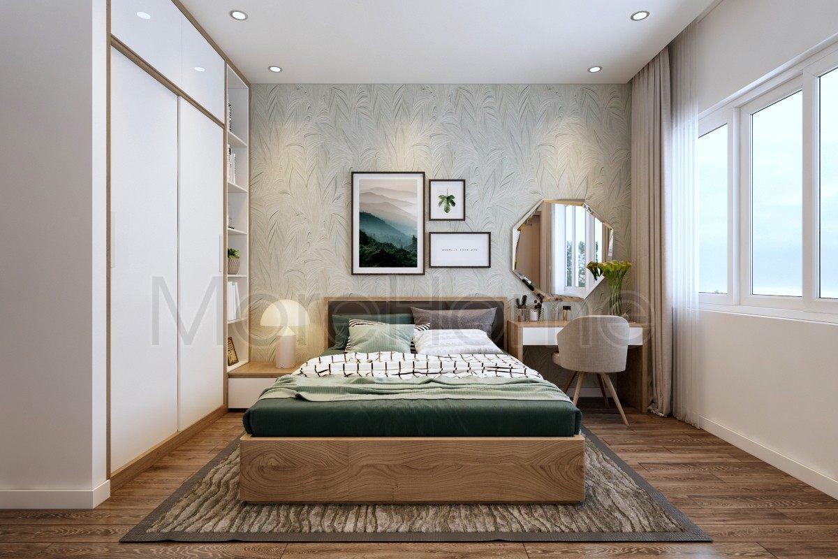Thiết kế nội thất phòng ngủ nhà phố Vạn Phúc Thủ Đức