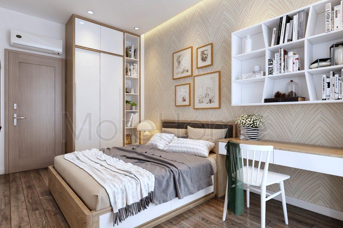 Thiết kế nội thất phòng ngủ nhà phố vạn phúc caThiết kế nội thất nhà phố Vạn Phúc Thủ Đứcity