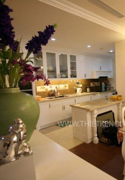 Thi công nội thất chung cư Mandarin Garden Tân cổ điển - Chị Lan