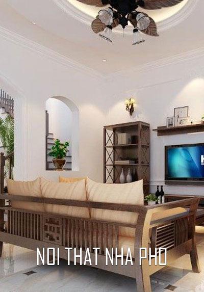 Thiết kế nội thất nhà lô phố tân cổ điển đẹp, sang tại Ngụy Như Kon Tum - Anh Hùng