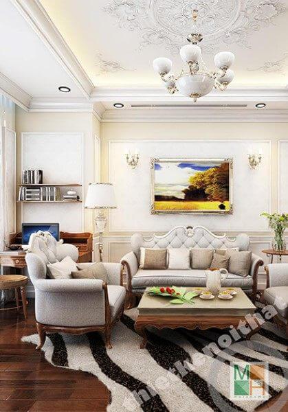 Thiết kế nội thất chung cư Royal City R1 Theo phong cách tân cổ điển