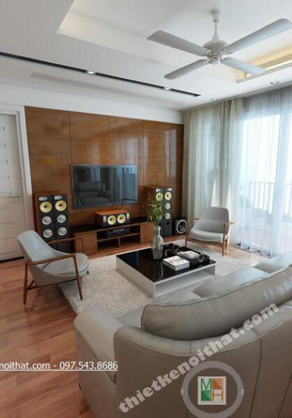 Thiết kế nội thất chung cư N04 Hoàng Đạo Thúy 2404B - Nhà Anh Hùng