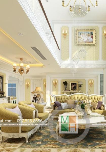 Thiết kế nội thất chung cư Mandarin Garden - Can hộ DUPLEX - Nhà Chị Dung