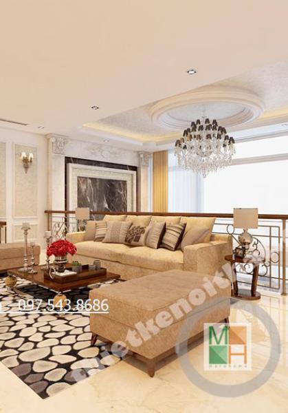 Thiết kế chung cư Sunrise cao cấp theo phong cách tân cổ điển - Nhà Anh Toàn