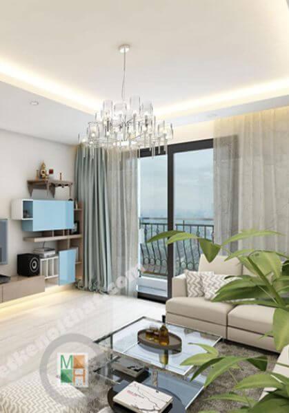 Thiết kế nội thất chung cư Thăng Long Number One - Anh Dũng
