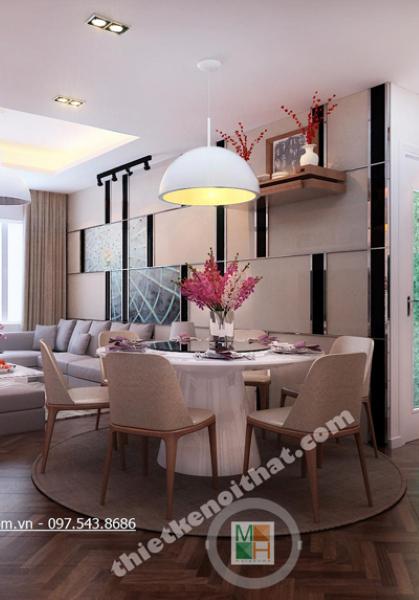Thiết kế nội thất chung cư Golden Palace hiện đại - Chị Lan Anh