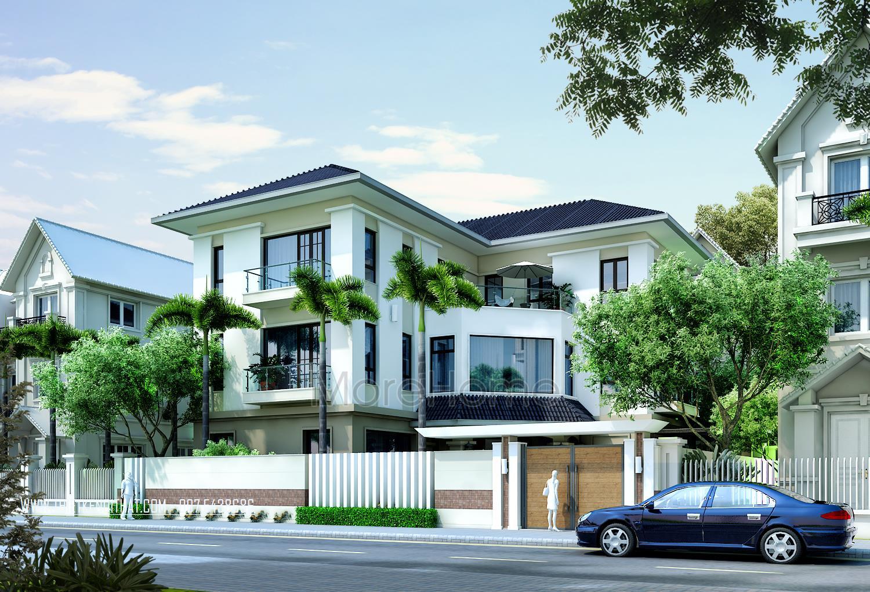Thiết kế biệt thự 3 tầng tại Móng Cái Quảng Ninh