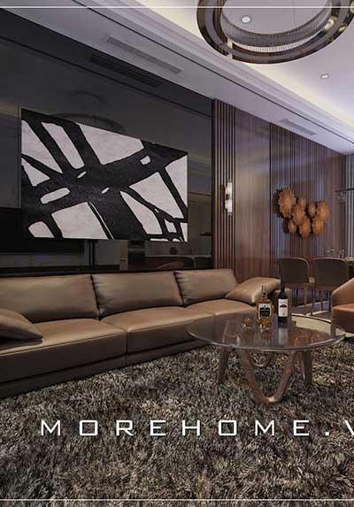 BST thiết kế phòng khách chung cư hiện đại, đẹp, sang trọng.