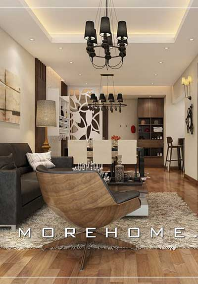 Tổng hợp mẫu thiết kế nội thất phòng khách và bếp ăn đẹp, sang trọng