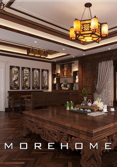 Mẫu thiết kế phòng thờ đẹp cho biệt thự sang trọng, đẳng cấp