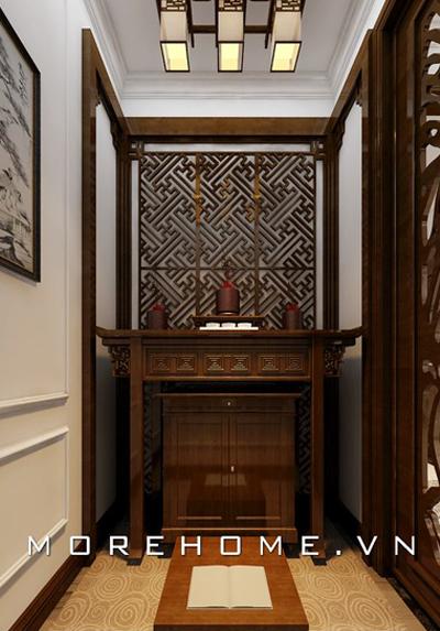 Top 25 mẫu phòng thờ đẹp cho nhà ống hiện đại, sang trọng