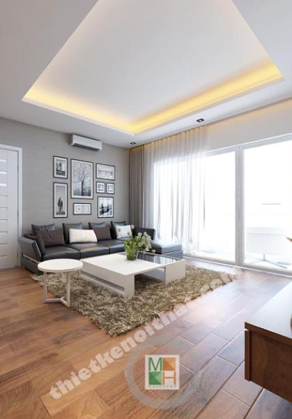 Thiết kế chung cư hiện đại Golden Palace 128 m2