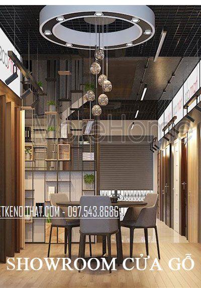 Thiết kế showroom cửa gỗ công nghiệp ATA Group