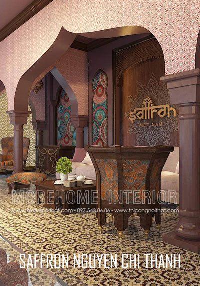 Thiết kế showroom Saffron Nguyễn Chí Thanh cao cấp
