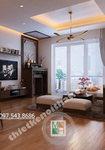 Thiết kế nội thất chung cư hiện đại N04 - nhà Anh Quyền