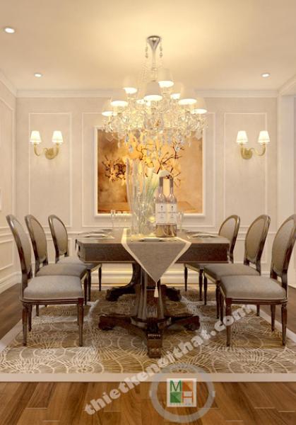 Thiết kế căn hộ chung cư Thăng Long Number One - Nhà chị Hồng