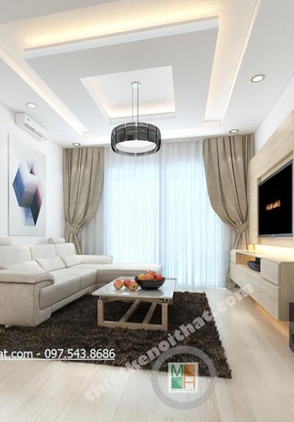 Thiết kế nội thất chung cư Golden Palace - Anh Hông Anh