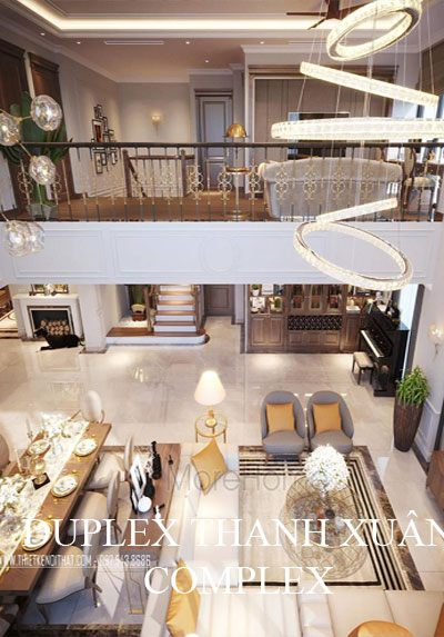 Thiết kế nội thất chung cư Duplex Thanh Xuân Complex cao cấp