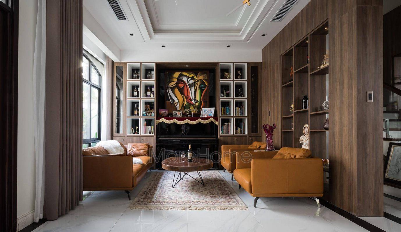 Bộ sofa da cao cấp tại biệt thự Vinhomes Imperia Hải Phòng
