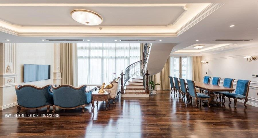 Thi công nội thất căn hộ Duplex Mandarin Garden cao cấp, sang trọng