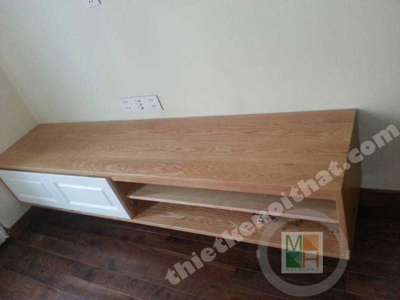 Tủ kệ trang trí gỗ sồi