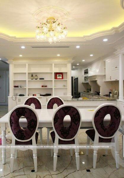 Thi công nội thất chung cư Mandarin Garden tân cổ điển sang trọng, quý phái