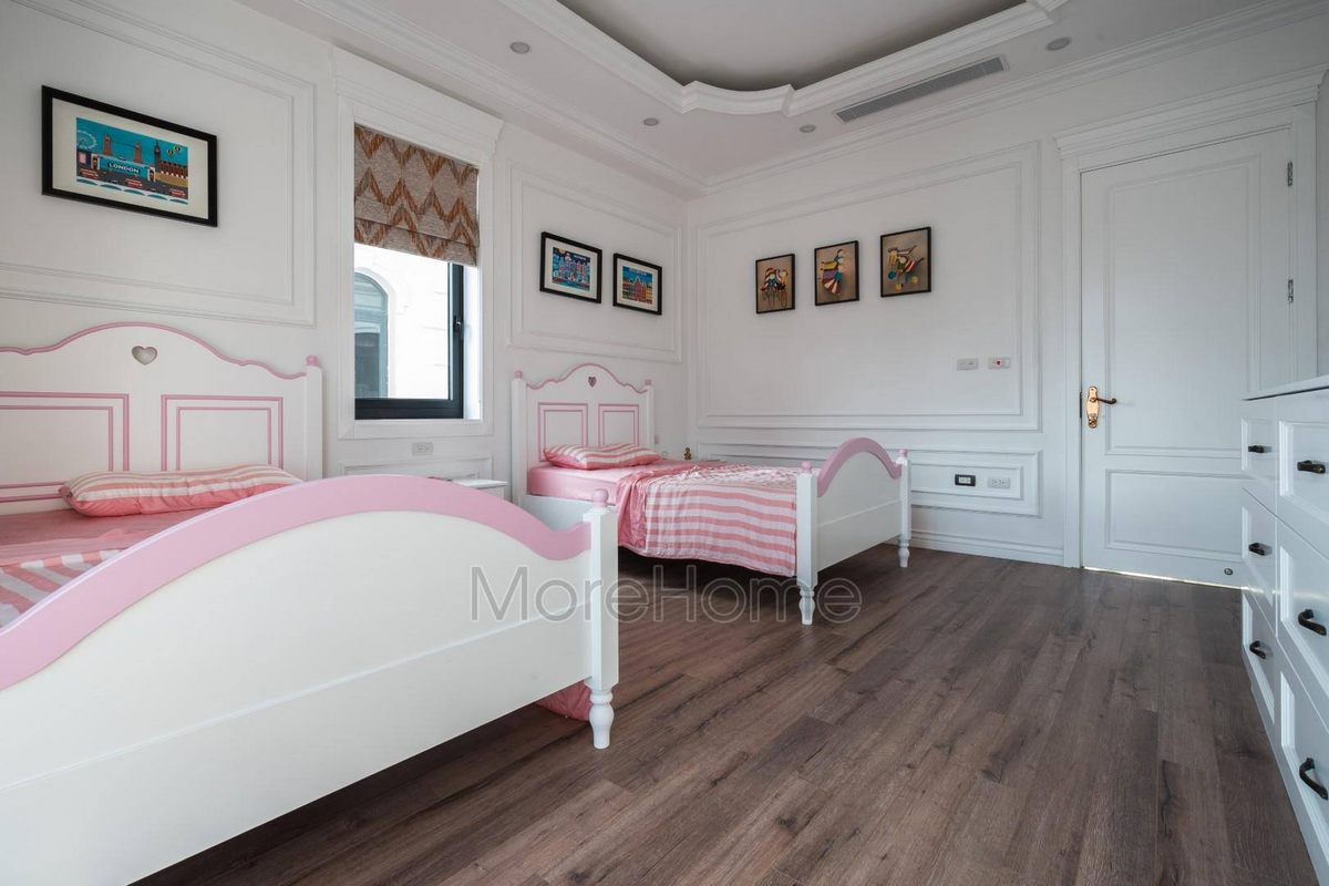 Nội thất phòng ngủ bé gái biệt thự Vinhomes Imperia Hải Phòng