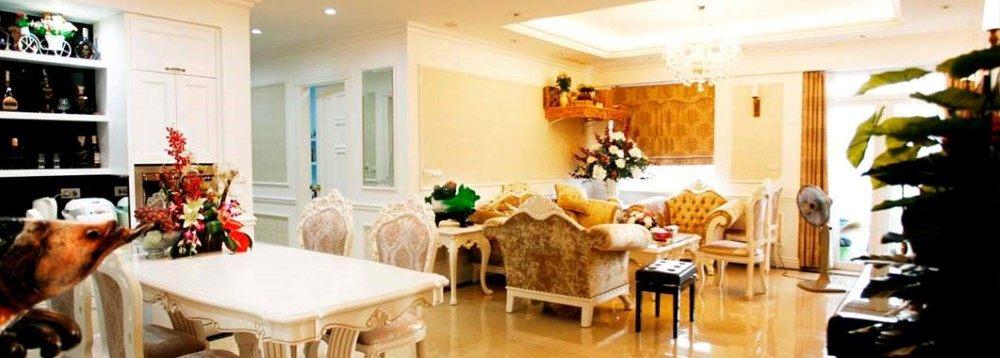 Phòng khách chung cư 165 thái hà Sông Hồng Park - Đống Đa - Hà Nội
