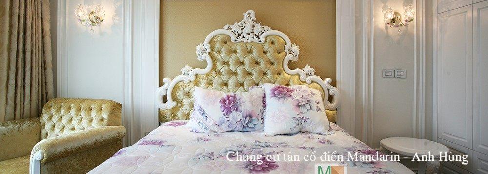 Thi công nội thất phòng ngủ chung cư Mandarin Garden Cầu Giấy Hà Nộ