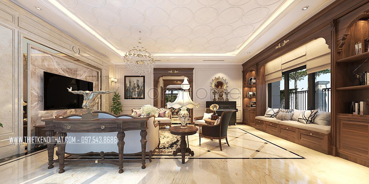 Thiết kế nội thất biệt thự Vinhomes GreenBay