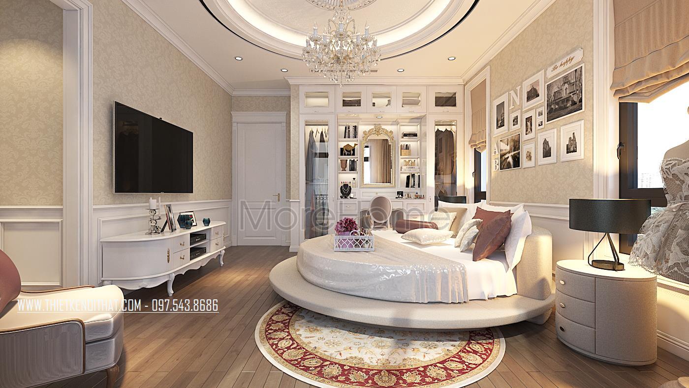Thiết kế nội thất phòng ngủ biệt thự Vinhomes GreenBay