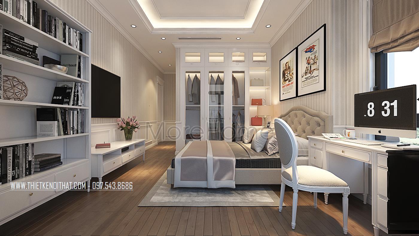 Thiết kế nội thất phòng ngủ cho biệt thự Vinhomes GreenBay