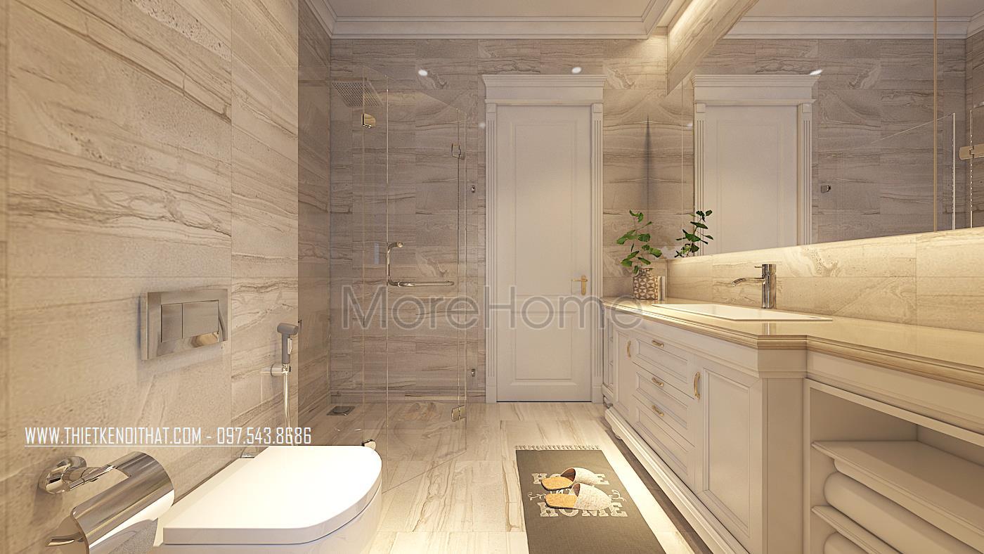 Thiết kế nội thất phòng tắm biệt thự Vinhomes GreenBay