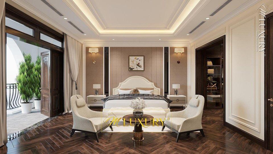 Thiết kế kiến trúc, nội thất biệt thự tân cổ điển Cao Cấp tại Việt Hưng