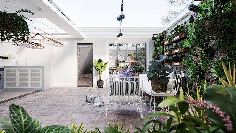 Thiết kế sân vườn biệt thự ciputra tây hồ hà nội
