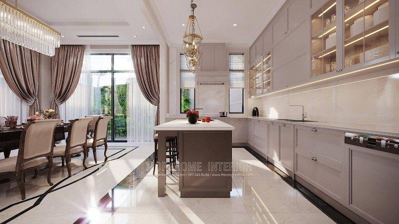 Thiết kế phòng bếp biệt thự ciputra tây hồ hà nội