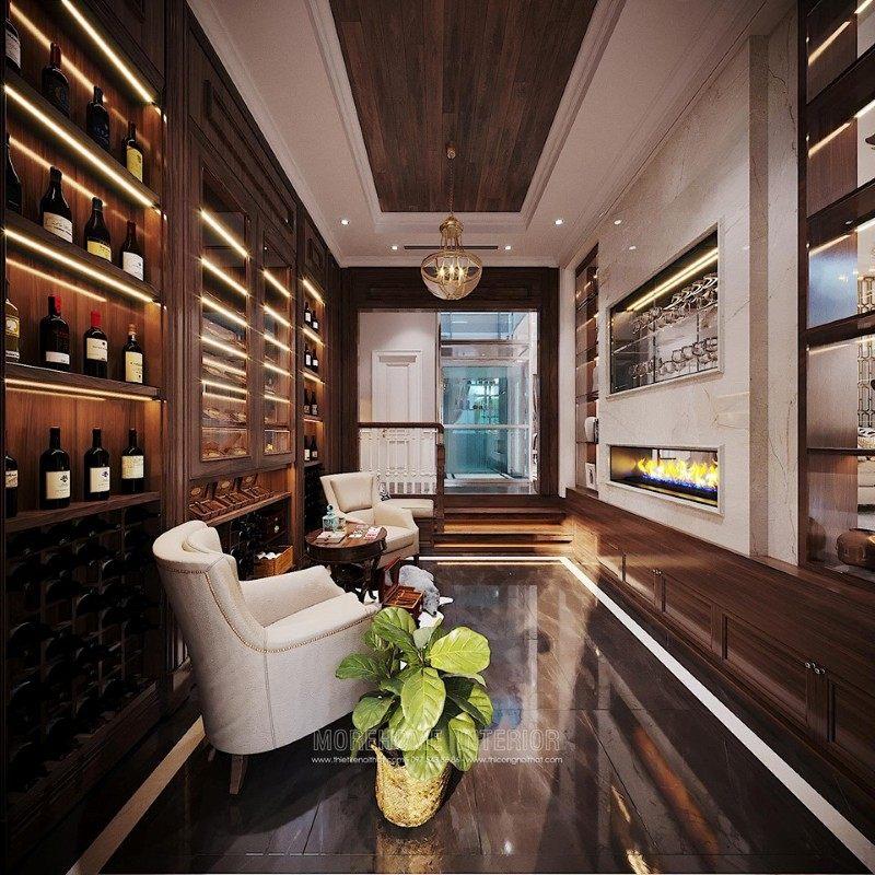 Tủ rượu cho biệt thự ciputra tây hồ hà nội