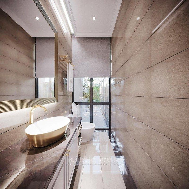 Thiết kế phòng tắm, nhà vệ sinh biệt thự ciputra tây hồ hà nội