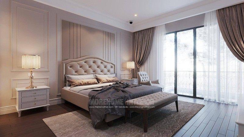 Thiết kế nội thất phòng ngủ biệt thự ciputra tây hồ hà nội