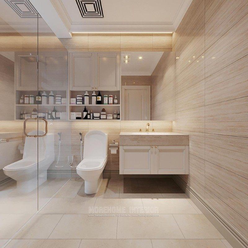 Thiết kế nhà tắm phòng vệ sinh biệt thự ciputra tây hồ hà nội