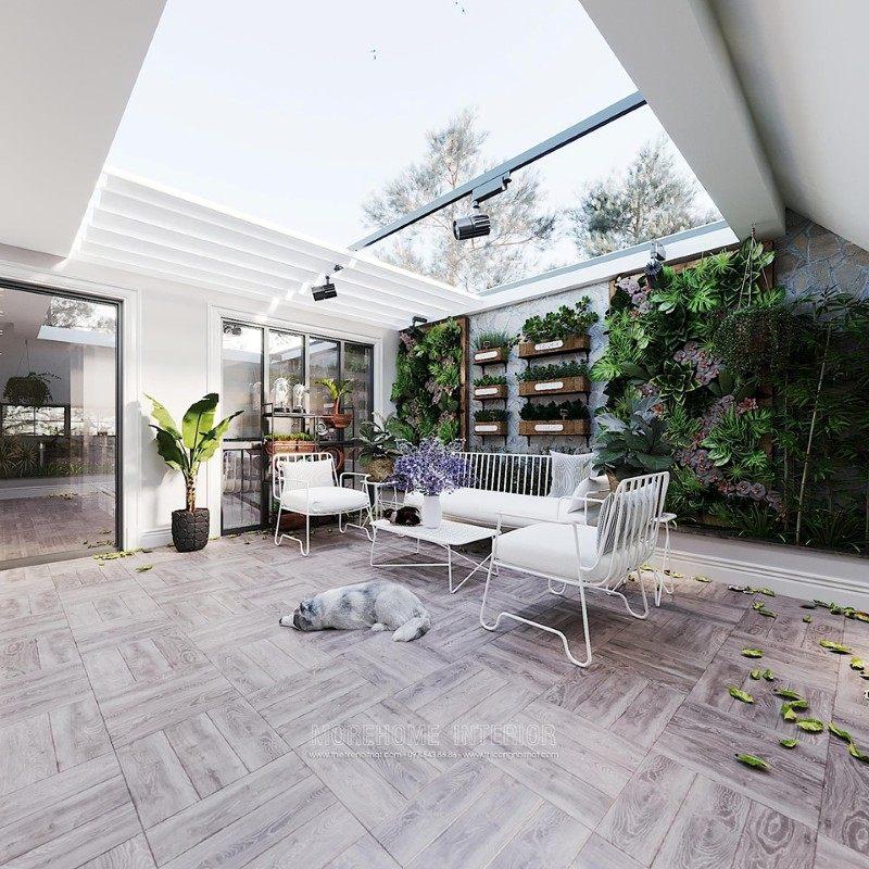 Thiết kế sân thượng biệt thự ciputra tây hồ hà nội