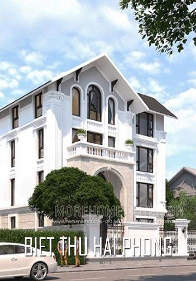 Thiết kế biệt thự đẹp tại khu đô thị Đằng Hải Hải An Hải Phòng tân cổ điển