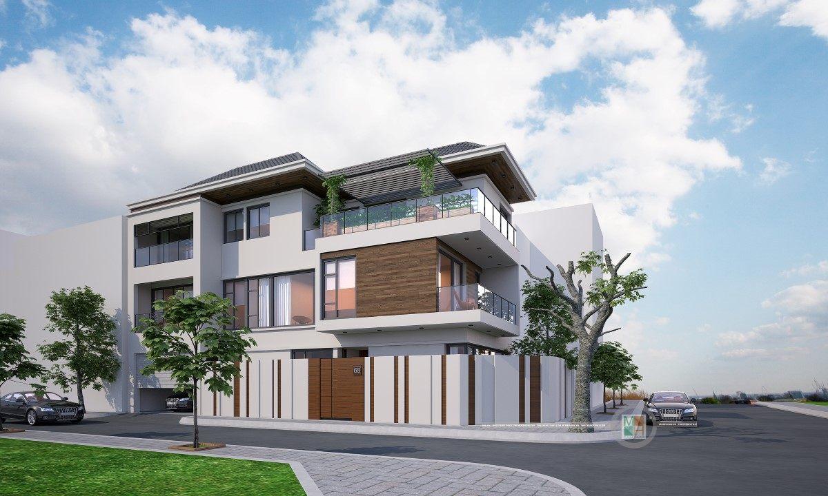 Thiết kế kiến trúc, nội thất biệt thự hiện đại tai TP Vinh