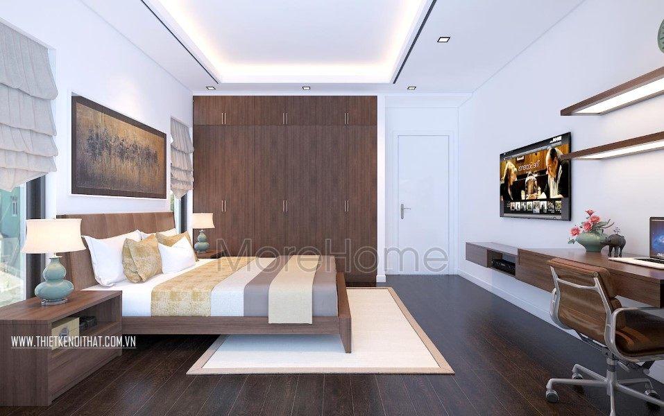 Thiết kế nội thất phòng ngủ hiện đại biệt thự hiện đại tai TP Vinh