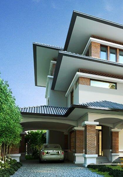 Thiết kế kiến trúc biệt thự mái thái hiện đại  - Chị Giang